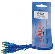 Obrázek RCA Y audio kabel BLUE BASIC line, 2xsamice, 1xsamec