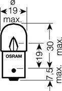 Obrázek OSRAM 24V R10W (BA15s) 10W standard (10ks)