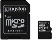 Obrázek Kingston 16GB microSDHC Class 10 UHS-I Card