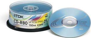 Obrázek z TDK CD-R80 25Cakebox
