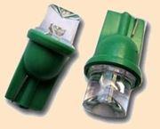 Obrázek LED s paticí T10 rozptylová zelená