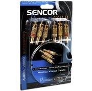 Obrázek SAV 101-008 3xRCA M - 3xRCA M PG SENCOR 0,8m