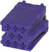 Obrázek Konektor MINI ISO 8-pin bez kabelů - modrý