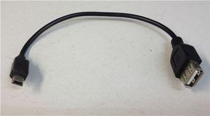 Obrázek z Propojovací kabel s konektorem USB mini A zástrčka / USB A zásuvka