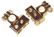 Obrázek Zlacená svorka (-) pólu baterie (4 in) 1x50, 1x20, 2x10 mm2