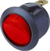 Obrázek Spínač kolébkový kulatý 20A červený s podsvícením