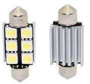 Obrázek x LED sufit (36mm) bílá, 12V, 6LED/3SMD s chladičem