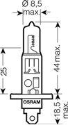 Obrázek OSRAM 12V H1 55W standard (1ks)
