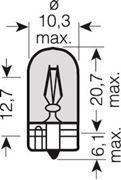 Obrázek x OSRAM 12V WY5W (W2,1x9,5d) 5W standard  oranžová(1ks)