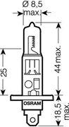 Obrázek OSRAM 24V H1 70W standard (1ks)