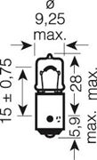 Obrázek OSRAM 12V H6W BAX9s 6W standard (1ks)