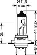 Obrázek OSRAM 24V H7 70W standard (1ks)