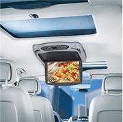 """Obrázek Stropní monitor 9"""" šedý s DVD/SD/USB + výměnný kryt béžový/černý"""