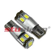 Obrázek LED T10 bílá, 12V, 6LED/5630SMD