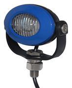Obrázek PROFI LED výstražné světlo 12-24V 3x3W modrý ECE R10 92x65mm