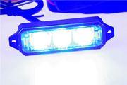 Obrázek MINI PREDATOR 3x1W LED, 12-24V, modrý, ECE R10