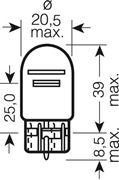 Obrázek OSRAM 12V W21/5W (W3x16q) 21/5W standard (1ks)