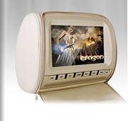 Obrázek Opěrka s vestavěným DVD a LCD, digitální + dotykový displej, béžová