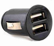 Obrázek Napaječ pro USB zařízení z CL zásuvky ultrakompaktní 5V/2x500mA