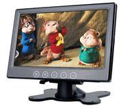 """Obrázek LCD monitor 7"""" černý na palubní desku"""