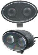 Obrázek PROFI LED výstražné bodové světlo 10-48V 2x4W červené 143x122mm, ECE R10