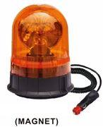 Obrázek Halogen maják, 12 i 24V, oranžový magnet, ECE R65