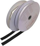 Obrázek Suchý zip samolepící - háčky, 0,2x25m, černý