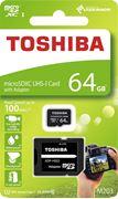 Obrázek Toshiba micro SDXC 64GB UHS-I M203 + adaptér