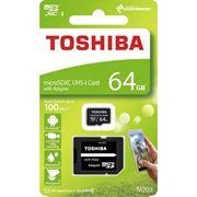 Obrázek Paměťová karta MicroSDXC 64GB 100M UHS-I + adaptér, TOSHIBA