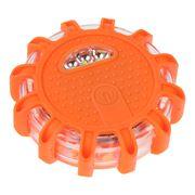 Obrázek LED výstražné světlo 12 + 3LED na 3x baterii AAA, oranžové