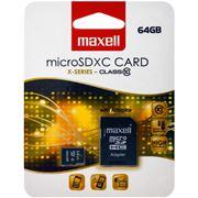 Obrázek Paměťová karta MicroSDXC 64GB CL10 + adaptér, MAXELL