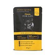 Obrázek Fitmin FFL cat pouch adult chicken 85g