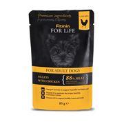 Obrázek Fitmin FFL dog pouch adult chic./ham 85g