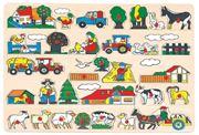 Obrázek BINO Dřevěné hračky vkládací puzzle