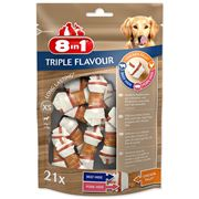Obrázek 8In1 Kost Žvý. Triple Flavour xsbag 21Ks