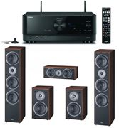 Obrázek Magnat Monitor Supreme set 1002 kávový + Yamaha RX-V4A černý