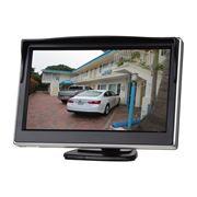 """Obrázek LCD monitor 5"""" černý na palubní desku s možností instalace na HR držák"""